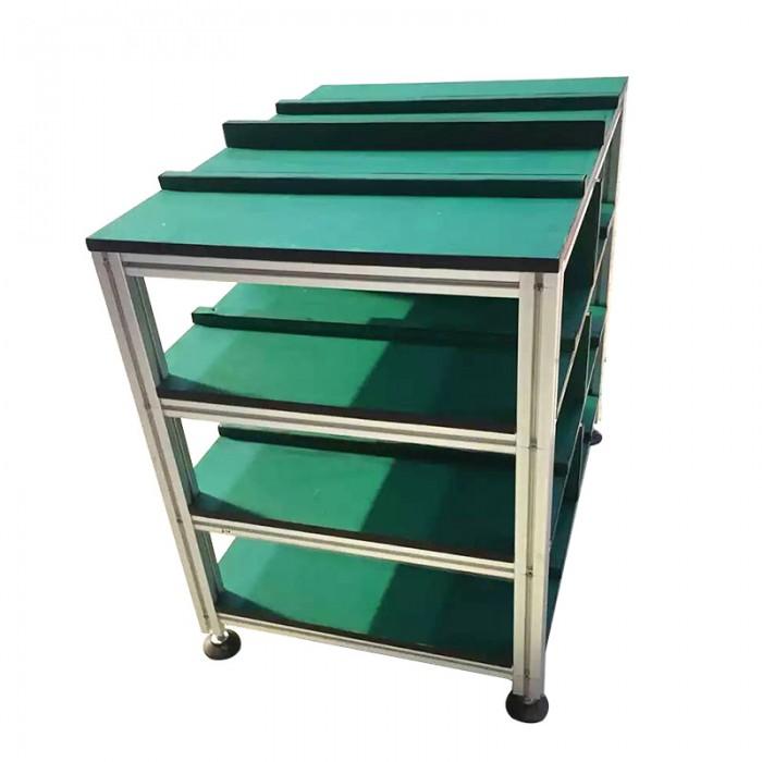 Bàn thao tác khung nhôm nhiều ngăn