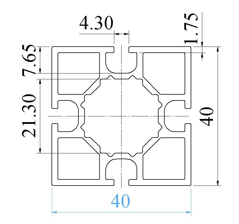Nhôm định hình 40x40 ATV4-4040-01