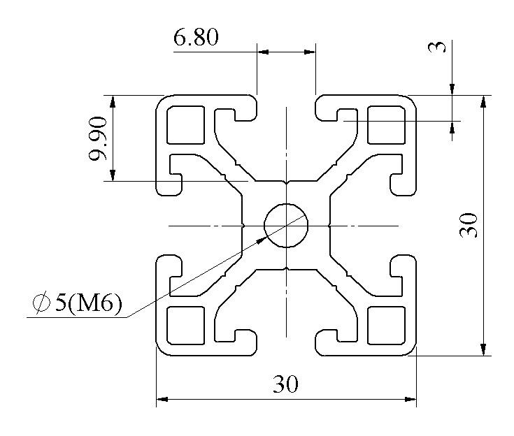 bản 2d nhôm định hình 3030 - MT5