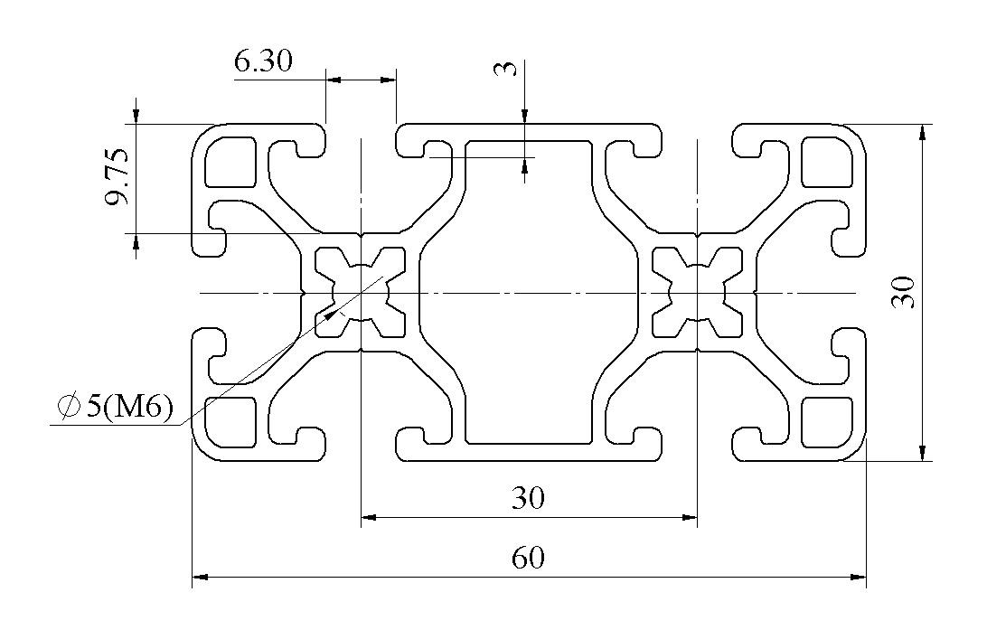 bản vẽ nhôm định hình 30x60AT15-B36AM3