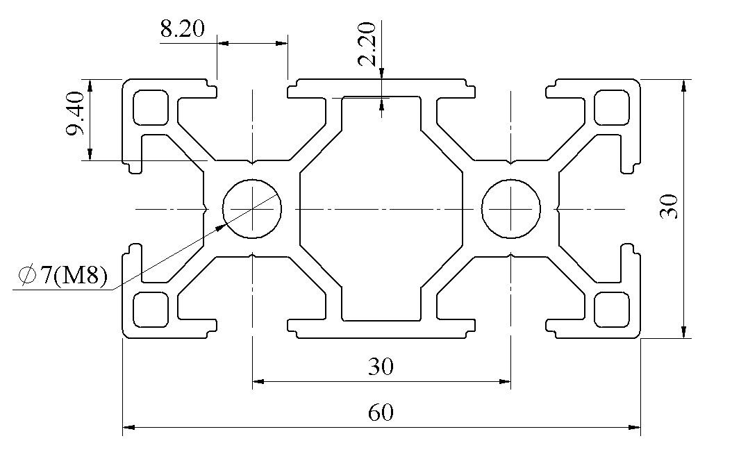 Bản vẽ nhôm định hình 30×60 ATV8-3060-01