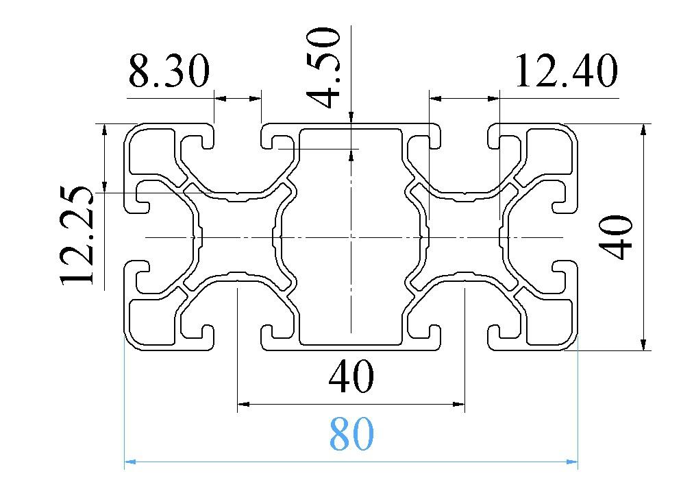 Nhôm định hình 40X80 ATV8-4080-06