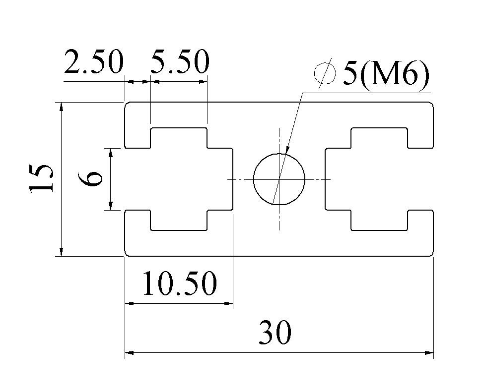 Bản vẽ nhôm định hình 15x30