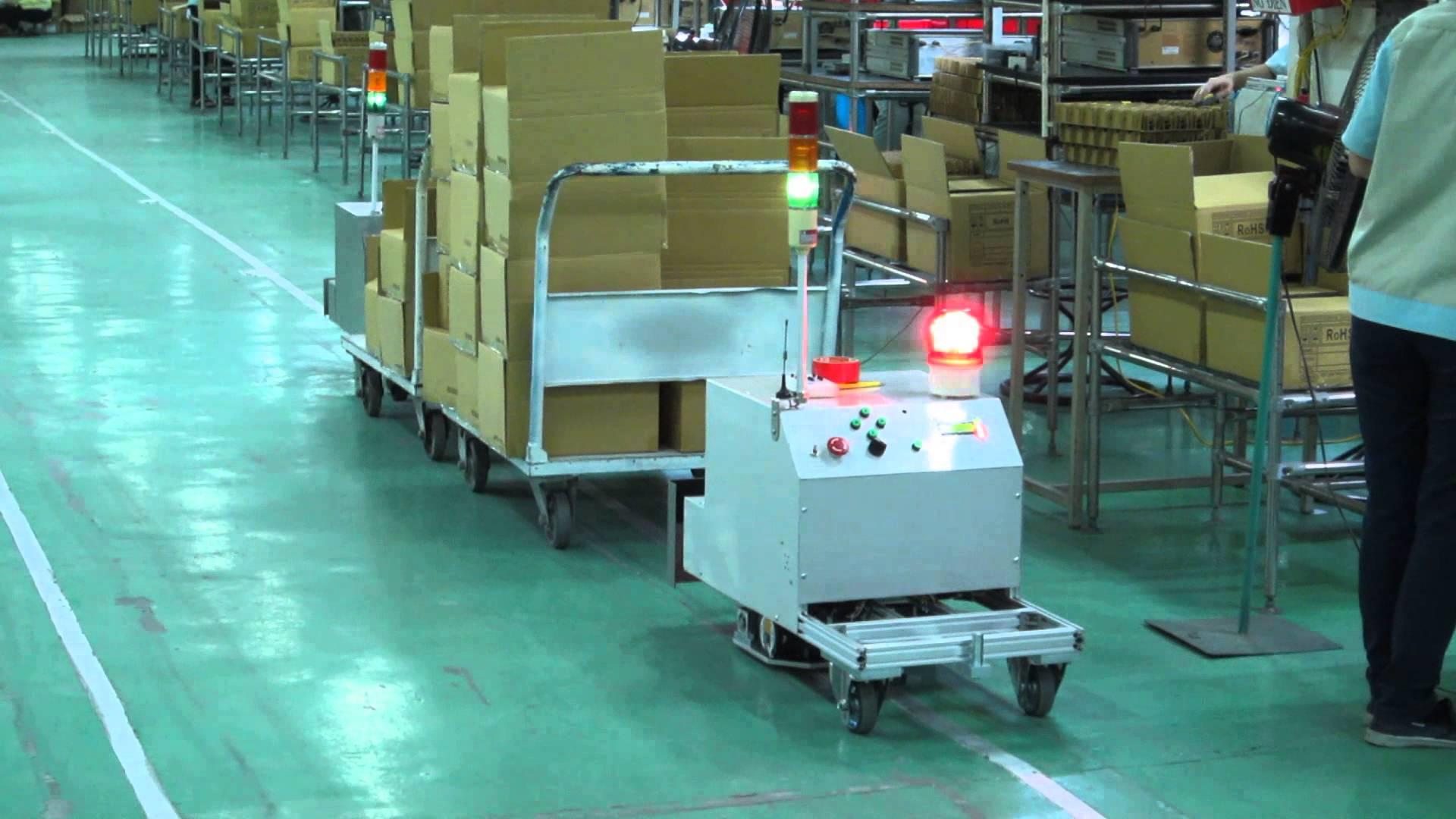 Xe AGV tự động dạng kéo